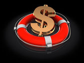 Rescue circle with dollar sign — Foto Stock