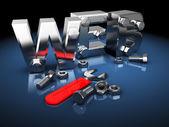 Budowa sieci web — Zdjęcie stockowe