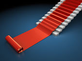 Red carped steps — Stock Photo