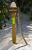 Hiking trail işareti — Stok fotoğraf