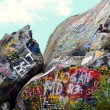 Stock Photo: Rocks with Grafitti