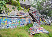 Grafitti Rocks in the Landscape — Stock Photo