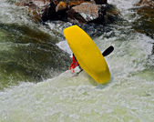 Dangerous Kayak Flip — Stock Photo