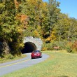 Car and Tunnel in Autumn — Stock Photo