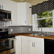 Stock Photo: Small White Kitchen