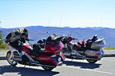 Motorcycles at an Overlook — Stock Photo