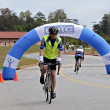 Foto Stock: Finish Line of Century Bike Ride