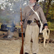 Man Dressed as Civil War Soldier - Stock Photo