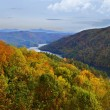Lake Dam and Mountains in Fall — Stock Photo #14805953