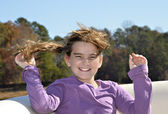Windblown Girl — Stock Photo