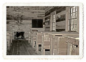 Interior of an Old School Room — Stock Photo