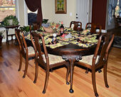 Dining Room with Antique Furnishing — Stock Photo