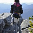 Young Girl Hiking in the Mountains — Stock Photo