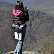 Young Hiker Taking Photo — Stock Photo