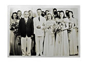 Wedding Photo 1940 — Stock Photo