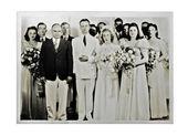 Svatební fotka roku 1940 — Stock fotografie