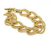 Gold Chain Bracelet — Stock Photo