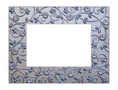 Silver Filigree Picture Frame — Stock Photo