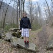 Boy at the Appalachian Trail — Stock Photo