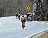 Men in a Bicycle Race — Stock Photo