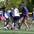 Young Girls Lacrosse — Stock Photo