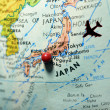 Stock Photo: Map with Japas Travel Destination