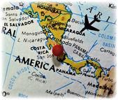 Map with Parts of Central America — Stock Photo