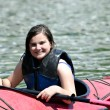Young Girl in Kayak — Stock Photo