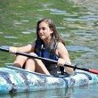 Teen Girl Kayaking — Stock Photo