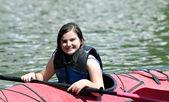 Young Girl in Kayak — Stock Photo