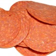 Stock Photo: Sliced Pepperoni