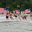 July Fourth on Lake — Stock Photo #27752587