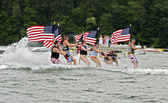 July Fourth on the Lake — Stock Photo