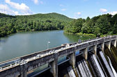 Dam on a Lake — Stock Photo