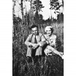 Vintage Photo Man and Woman — Stock Photo