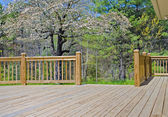 Wood Deck on House — Stock Photo
