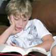Stock Photo: Young Boy Reading
