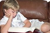 Boy Reading — Stockfoto