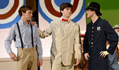Teen Boys in a School Play — Stock Photo
