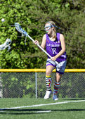 Young Girl Lacrosse Player — Stock Photo