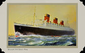 Queen Mary Postcard — Stock Photo