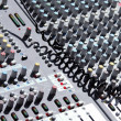 Soundboard mixer — Stock Photo