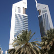 Emirates towers in Dubai — Stock Photo