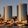 Deira Twin Towers in Dubai Creek — Stock Photo #12548793