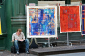Artworks on the street — Stock Photo