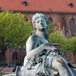 Neptunbrunnen (Neptune fountain) in Berlin — Stock Photo