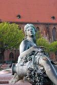 Neptunbrunnen (Neptune fountain) in Berlin — Stock Photo