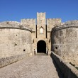 Knight fortress in Rhodes, Greece — Stock Photo