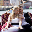 Couple in Venice, Italy - Stock Photo