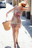 Girl on the street — Stock Photo